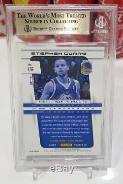 13/14 Prizm Stephen Curry Argent Refractor Bgs Rare 9.5 Gem Mint 2ème Année Prizm