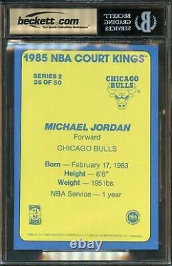 1984 1985 Star Michael Jordan Court Kings #26 Bgs 9.5 Gem Mint. Véritable Rookie