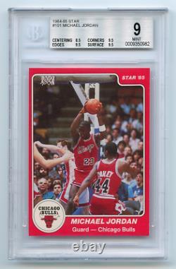 1984-85 Star Michael Jordan Rc Bgs 9 Mint Pop 68 0,5 A Partir De 7-figure 9.5 Gemme