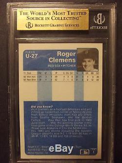 1984 Fleer Mise À Jour # 27 Roger Clemens Rc Rookie Bgs 9,5 Gem Mint Rare