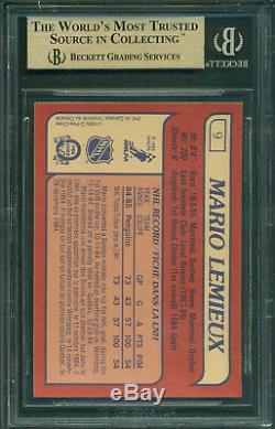 1985 86 Opc # 9 Mario Lemieux Carte Recrue Bgs 9.5 Gem Mint 10 & X3 9.5