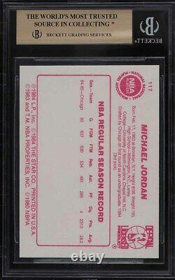 1985 Basketball Des Étoiles Michael Jordan Rookie Rc #117 Bgs 9,5 Gem Mint