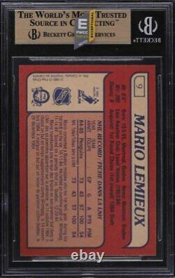 1985 O-pee-chee Hockey Mario Lemieux Rookie Rc #9 Bgs 9.5 Gem Mint (pwcc-e)