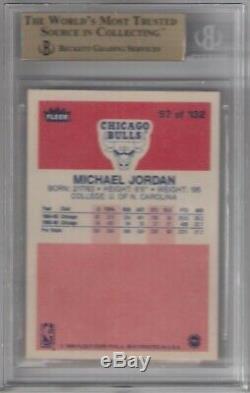 1986-1987 Fleer # 57 Michael Jordan Rc Bgs 9.5 Gem Mint Quad! Rare Hof