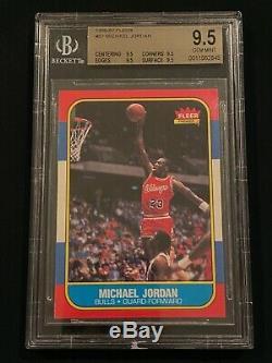1986-1987 Fleer Michael Jordan # 57 Rookie Card Bgs 9.5 Gem Mint! Comme Psa 10