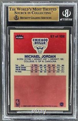 1986-87 Fleer #57 Michael Jordan Rookie Rc Bgs 9.5 Sub Quad 9.5 True Gem Mint