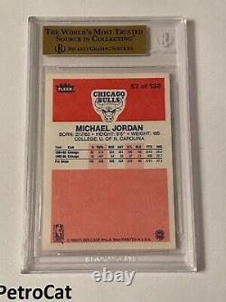 1986 87 Fleer Michael Jordan #57 Bgs 9.5 10 Centrage Psa Gem+ Mint Pcsc /526 Mj