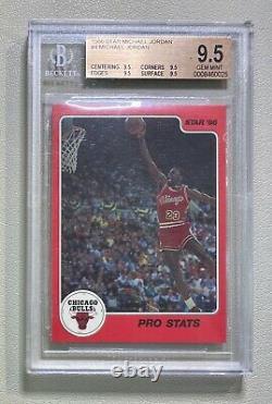 1986 Étoile #4 Pro Statistiques Michael Jordan Rc Bgs 9.5 Rookie True Gem Mint Quad 9.5s