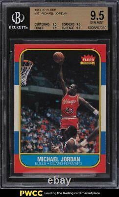 1986 Fleer Basketball Michael Jordan Rookie Rc # 57 Bgs 9.5 Gem Mint