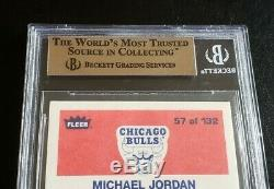 1986 Fleer Michael Jordan Rookie Card # 57 Bgs 10 Pristine Centrage 9.5 Gem Mint