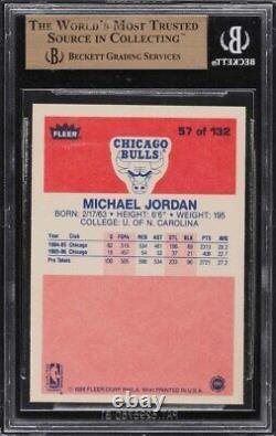 1986 Fleer Michael Jordan Rookie Rc #57 Bgs 9.5 Gem Mint