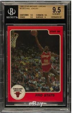 1986 Michael Jordan Étoiles Rc Rookie # 4 Bgs 9,5 Gem Mint