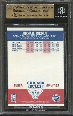 1987 Fleer Michael Jordan # 59 Bulls Bgs 9.5 Gem Mint