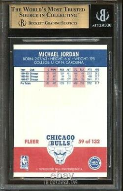 1987 Fleer Michael Jordan #59 Bulls Bgs 9.5 Gem Mint Dead Centered