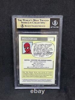 1990 Marvel Universe Cosmic Spider-man Hologram #mh1 Bgs 9.5 Gem Mint = Psa 10