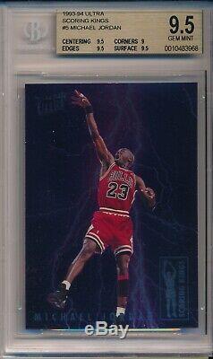 1993-94 Fleer Scoring Kings Michael Jordan Gem Carte Bgs Menthe 9.5
