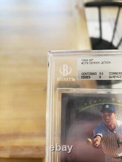 1993 Sp Derek Jeter #279 Foi Rookie Card Rc Bgs 8.5 Avec Gem Mint 9.5 + (2) 9