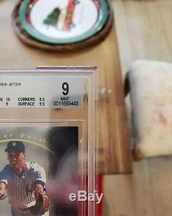 1993 Sp Derek Jeter Foil # 279 Recrue Bgs 9 Avec 10 + 9.5 Gem Mint Surface = Psa