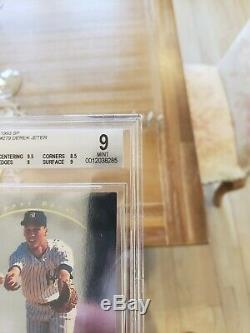 1993 Sp Derek Jeter Foil # 279 Recrue Rc Yankees Bgs 9 Avec 9,5 Gem Mint = Psa