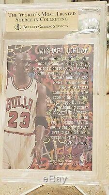 1995-96 Flair Hot Numbers # 4 Michael Jordan Bgs Gem Mint 9.5 Rare 3d Insert