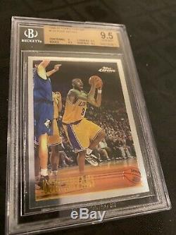 1996-1997 Chrome # 138 Topps Kobe Bryant Rookie Carte Bgs 9,5 Gem Mint