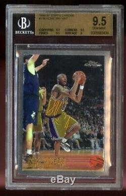1996-1997 Chrome Kobe Bryant Topps Rookie Bgs 9,5 Gem Mint Rc La Lakers # 138