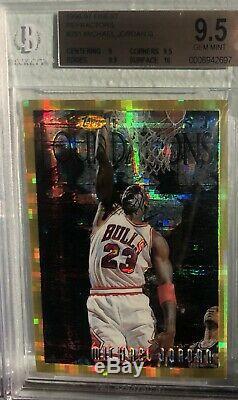 1996-1997 Finest Réfracteurs Or Atomique Michael Jordan G # 291 Bgs Gem Mint 9.5