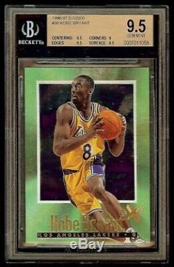 1996-1997 Kobe Bryant Skybox E-x2000 Rookie # 30 Rc Bgs 9,5 Gem Mint Faible Pop