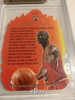 1996-97 Flair Showcase Michael Jordan Hot Shots # 1 Bgs 9,5 Gem Mint