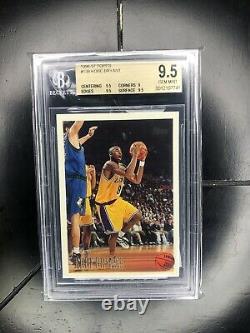 1996-97 Topps #138 Kobe Bryant Bgs 9.5 Gem Mint Rc Rookie Hof Comme Psa 10