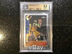 1996 Chrome Kobe Bryant Topps Recrue Rc # 138 Bgs 9.5 Gem Mint