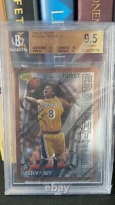 1996 Finest Avec Revêtement Kobe Bryant Rookie Rc # 74 2x 10s Bgs 9.5 Gem Mintes Psa 10