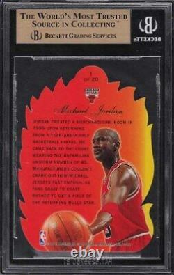 1996 Flair Showcase Hot Shots Michael Jordan #1 Bgs 9.5 Gem Mint