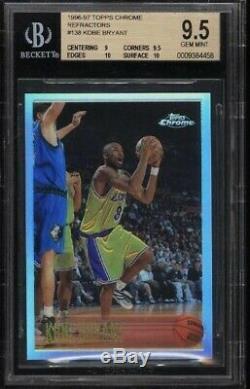 1996 Réfracteur Kps Bryant Chrome Kps Bryant Rc # 138 Bgs 9.5 Gem Mint