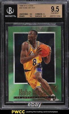 1996 Skybox E-x2000 Kobe Bryant Rookie Rc #30 Bgs 9.5 Gem Mint