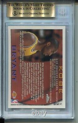 1996 Topps Chrome Basketball 138 Kobe Bryant Rookie Card Graded Bgs Gem Mint 9,5