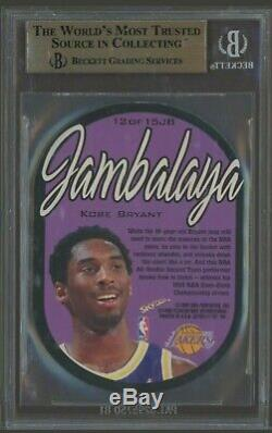 1997-1998 Skybox E-x2001 Jambalaya # 12 Bryant Kobe Bgs 9.5 Gem Mint Avec 10 Coins