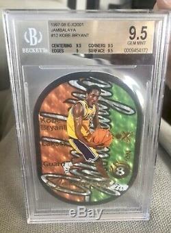 1997-1998 Skybox E-x2001 Jambalaya Kobe Bryant # 12 Bgs 9,5 Gem Mint