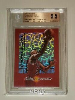 1997-98 Fleer Thrill Seekers Michael Jordan # 7 Bgs 9.5 Gem Mint Quad 9.5