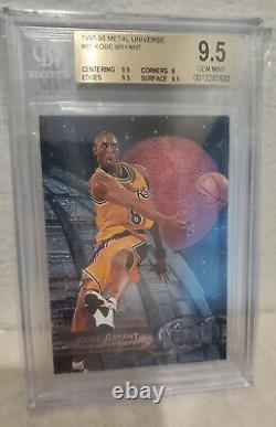 1997 Univers Metal Kobe Bryant #81 Bgs 9.5 Gem Mint Lakers
