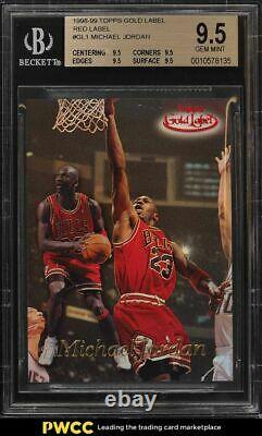 1998 Topps Gold Label Red Label Michael Jordan #gl1 Bgs 9.5 Gem Mint
