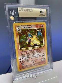 1999 Pokemon Base Set Holo Charizard #4 Bgs 9.5 Gem Mint Psa 10
