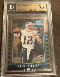 2000 Bowman Chrome # 236 Tom Brady Patriots Rc Rookie Bgs 9.5 Gem Mint