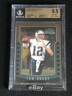 2000 Bowman Chrome Tom Brady # 236 Rookie Bgs 9.5 Gem Mint = Psa 10