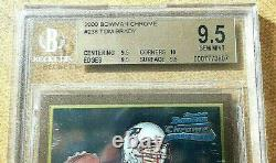 2000 Bowman Chrome Tom Brady Bgs 9.5 (gem Mint) #236 Patriotes Rc Avec 10