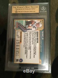 2000 Bowman Chrome Tom Brady Rc Gem Mint Beauty Bgs 9,5 X 4 = 10 Psa