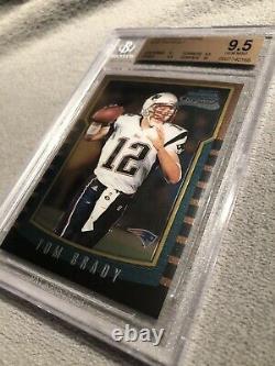 2000 Bowman Chrome Tom Brady Rookie Rc #236 Bgs 9.5 Gem Mint! 10 Sous-sol De Surface