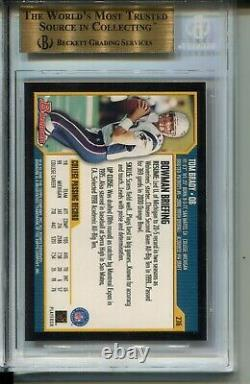 2000 Bowman Football #236 Tom Brady Rookie Card Rc Graded Bgs Gem Mint 9.5