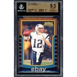 2000 Bowman Football Tom Brady Rookie Rc #236 Bgs 9.5 Gem Mint