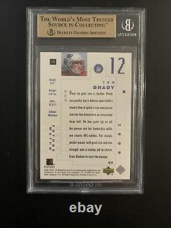 2000 Tom Brady Sp Authentic 617/1250 Bgs 9.5 Gem Mint With10 Centering = Psa 10